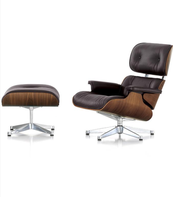 Vitra - LCH XL Eames Lounge Chair & Ottoman - Walnut/Chocolate
