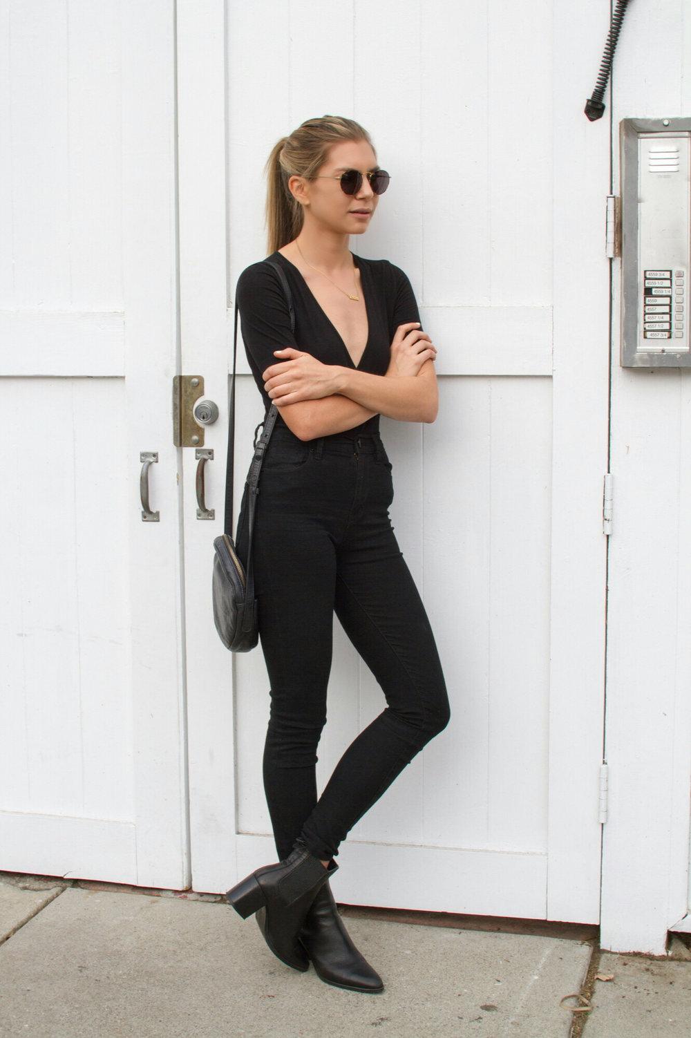 Pajama Style Jacket, Zara  ;  Boots, Zara  ;  Jeans, Topshop  ;  Bag, Bagg