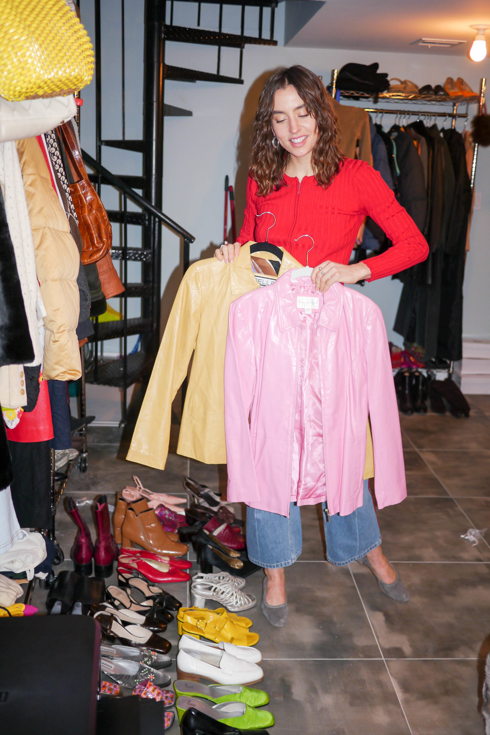 Top, Vintage ; Jeans, Handmade ; Shoes, Maryam Nassir Zadeh