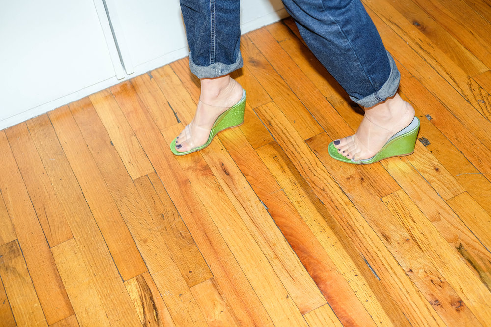 Maryam Nassir Zadeh Olympia Keylime Wedge Sandals