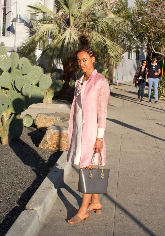 Dress & Jacket, vintage ; Shoes,  Maryam Nassir Zadeh