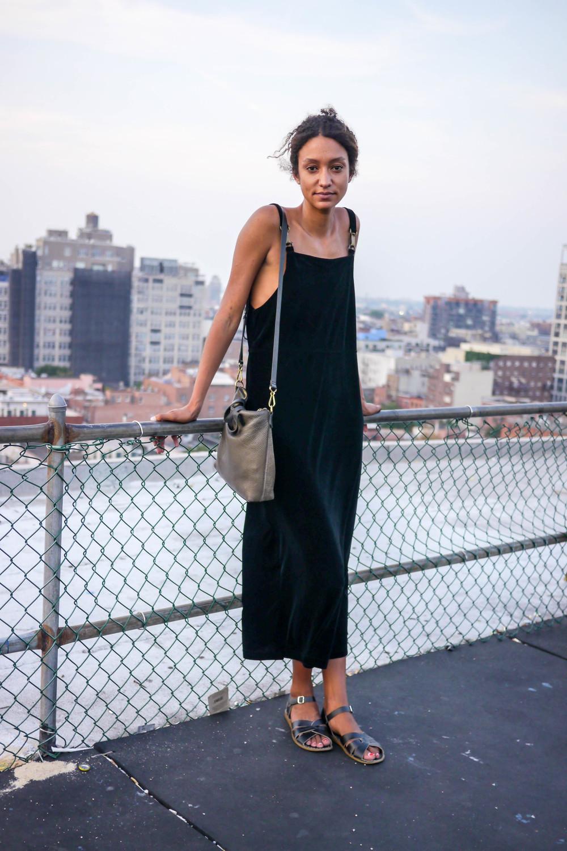 Dress: Studio Ease,    Shoes: Salt Water   , Bag: Vintage