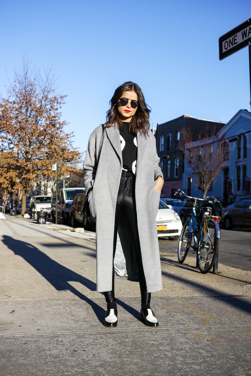 Top: JNOUN ,  Pants: American Apparel , Shoes: & Other Stories, Sunglasses: Awoke Vintage, Coat: Acne