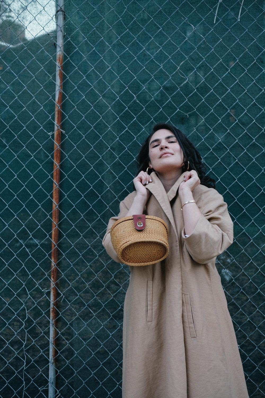 Coat: ASOS, Bag: Etienne Aigner, Earrings: LOÉIL