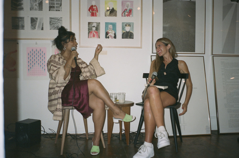 Writers Fariha Róisín and Melissa Broder in conversation at the Passerbuys Book Club for The Pisces
