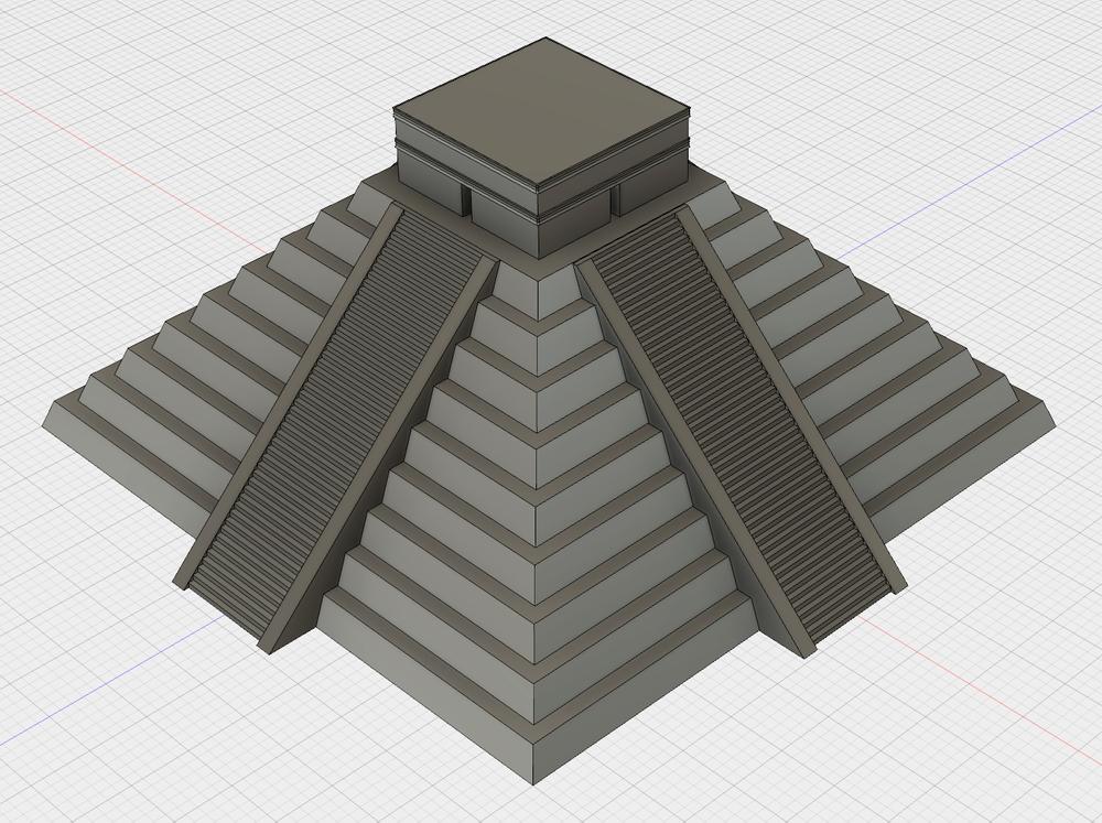 An Autodesk Fusion 360 model of Chichen Itza's El Castillo.  Cyark data here .