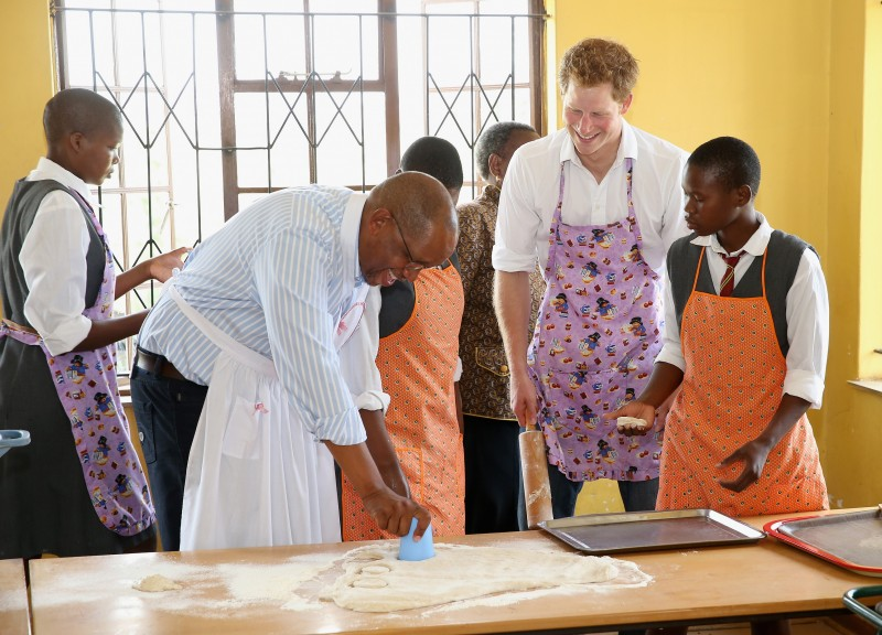 Baking with Prince Seeiso and Prince Harry
