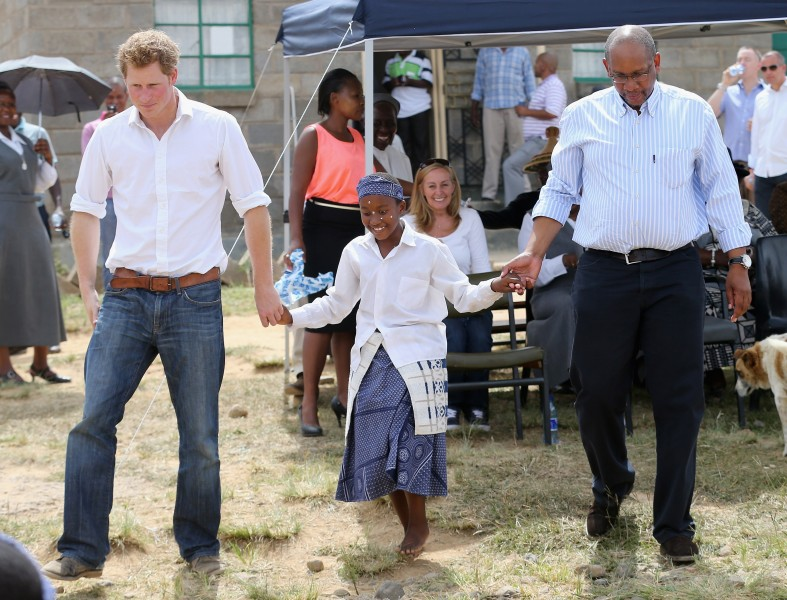 Prince Harry. Prince Seeiso and Friend