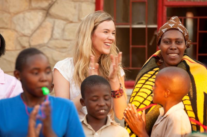 Sentebale Ambassador Joss Stone with Children