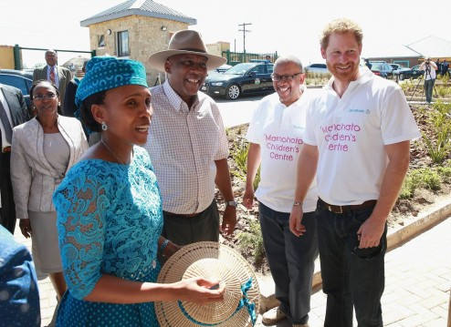 King Letsie III & Queen 'Masenate' Welcomed By Prince Harry & Prince Seeiso