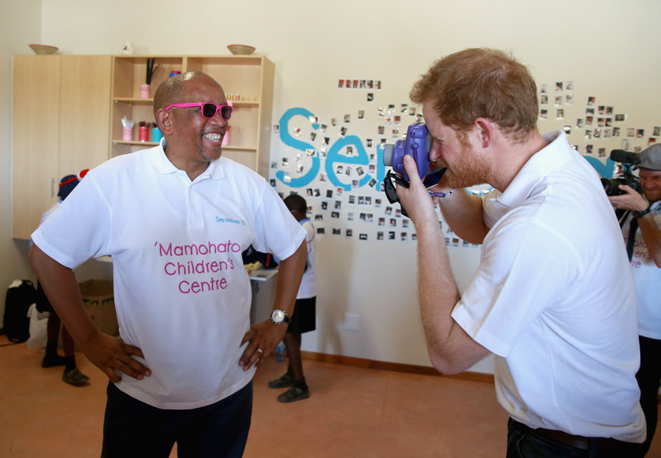 Sentebale Prince Harry & Prince Seeiso Photo Op