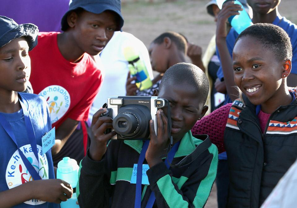 Sentebale Children With Camera