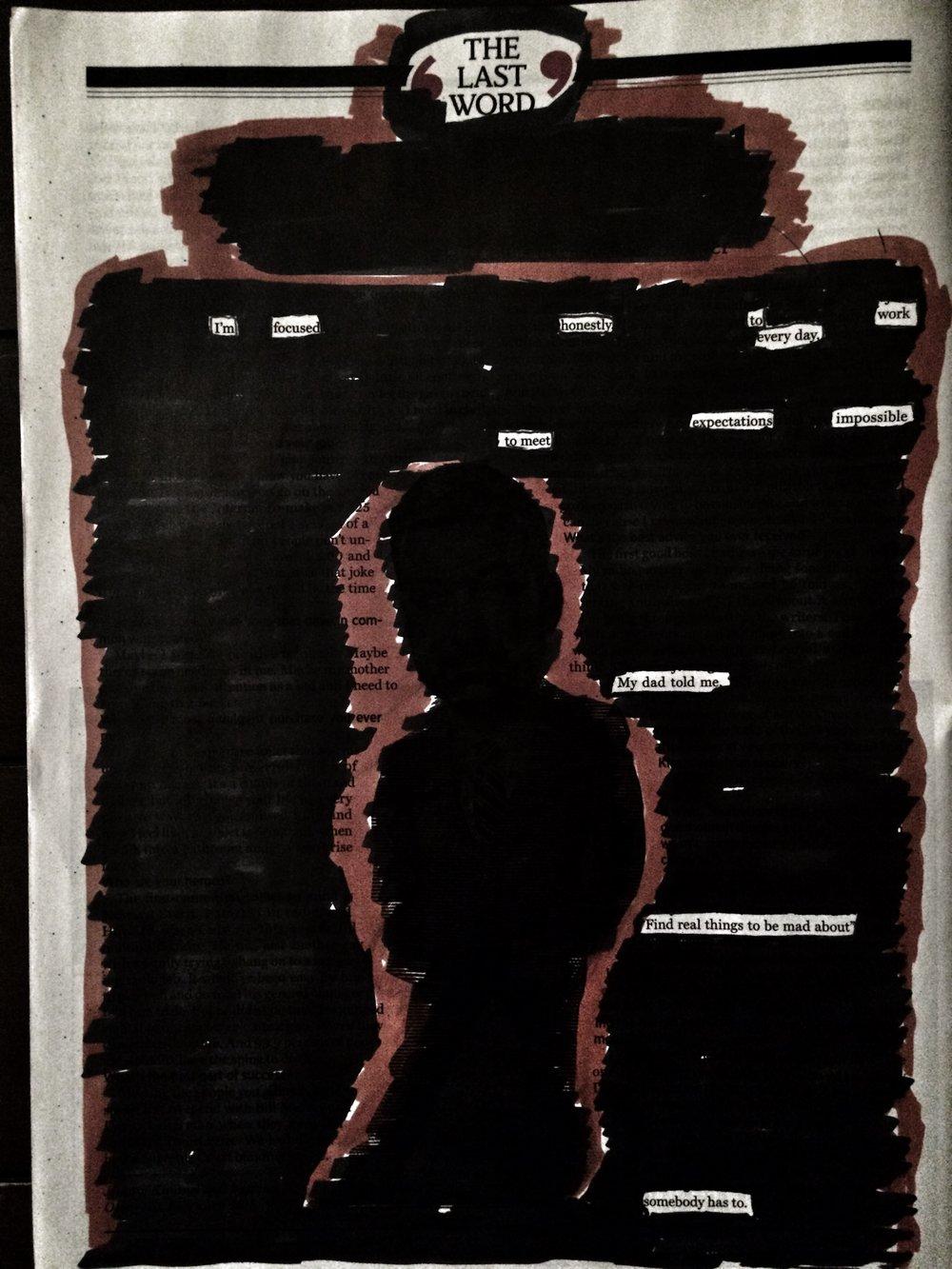 """The Last Word"" Blackout Poem"
