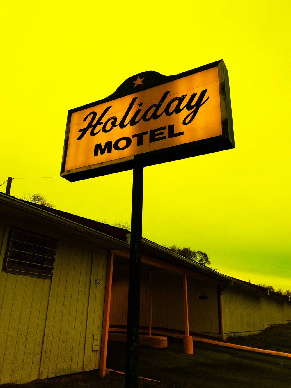 The Holiday Motel, Prospect and 53rd in Kansas City, MO.