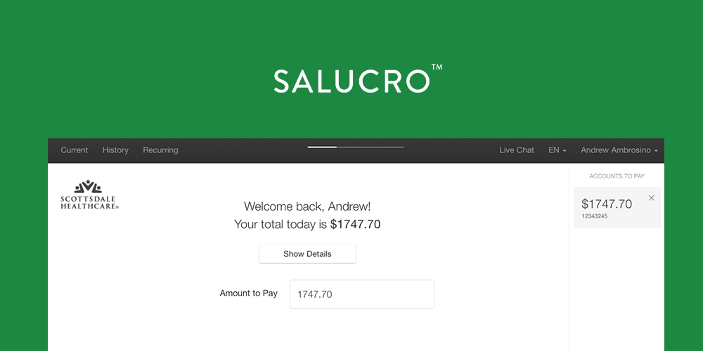 Lead Designer  (contracted) at  Salucro