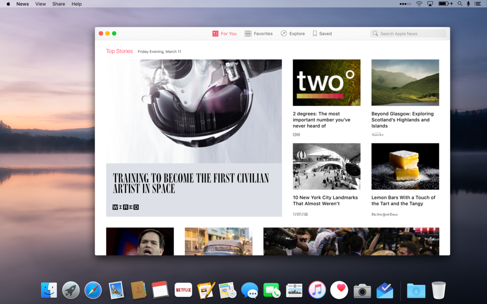 News for Mac
