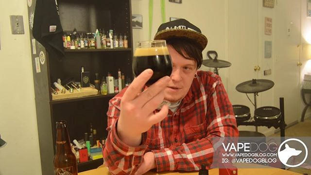In today's video #perfectpairing @dizzzyimaloser put together the perfect combo to tuck you on a cold winter night. @stonebrewingco #AmericanoStout and #Nerdcore #Believe! Live now on vapedogblog.com! Link in bio!  #vape #vapedog #vaporizer #vapelife #vapelyfe #vapenews #vapeblog #vaping #vapingcommunity #vapereview #vapingreviews #juicereviews #modreviews #news #blog #ejuice #mechanical #mechmod #vapefam #improof #beerpairing #vapepairing