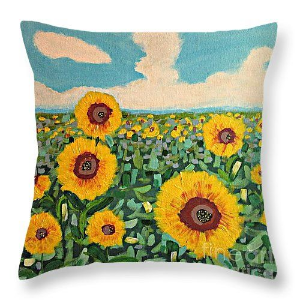 Sunflower Serendipity pillow.  Please click the photo for more information on sizes and availability.