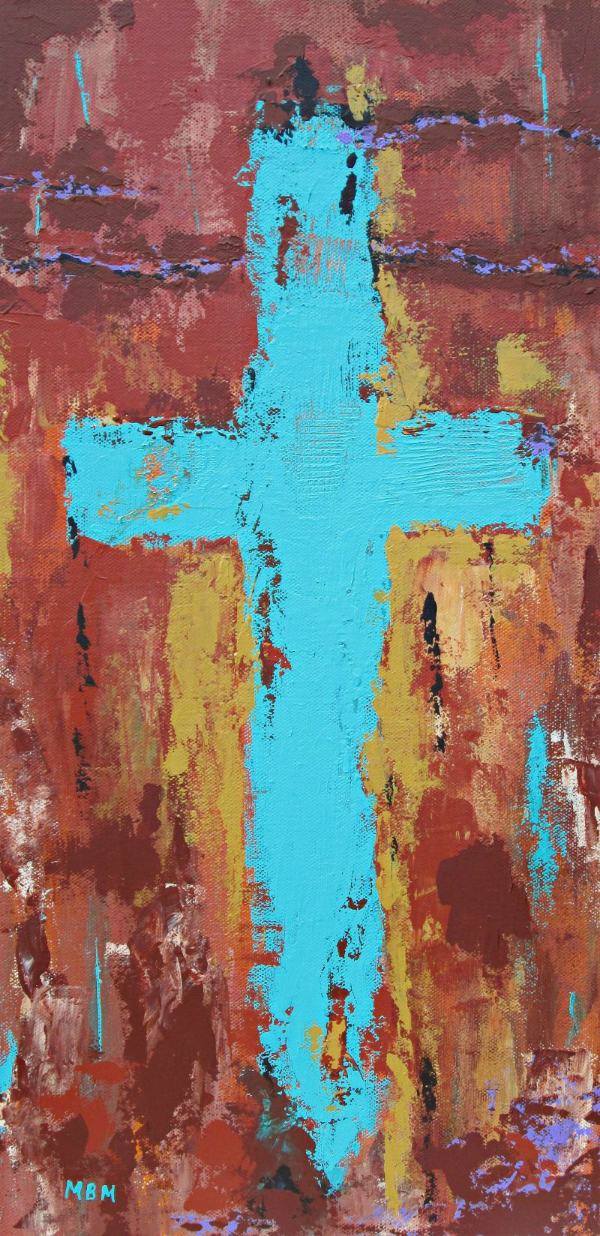 """Faith""  10"" x 20"" acrylic on gallery wrapped canvas"