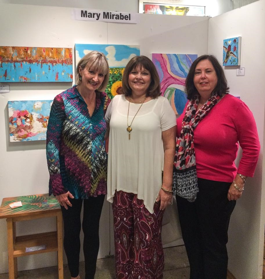 Mary and friends at ART JAM at the Wandering Eye Gallery, Tampa, FL