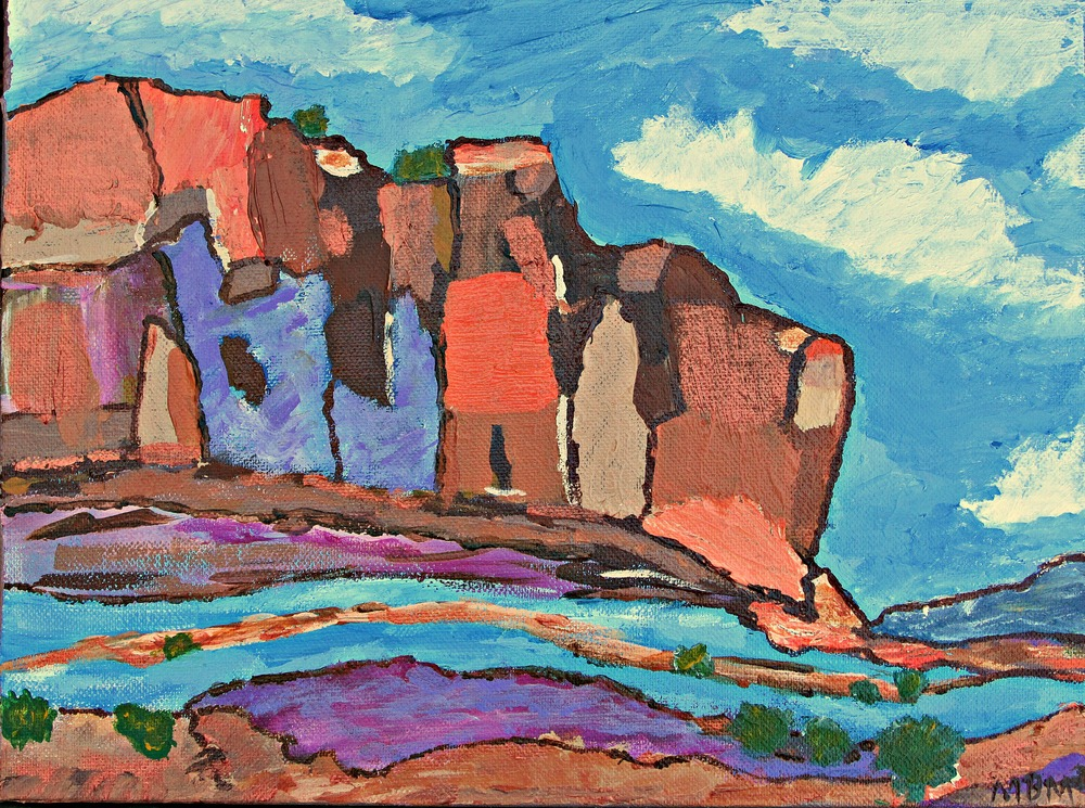 "Canyon's Chorus, 12"" x 9"" acrylic on wrapped canvas"