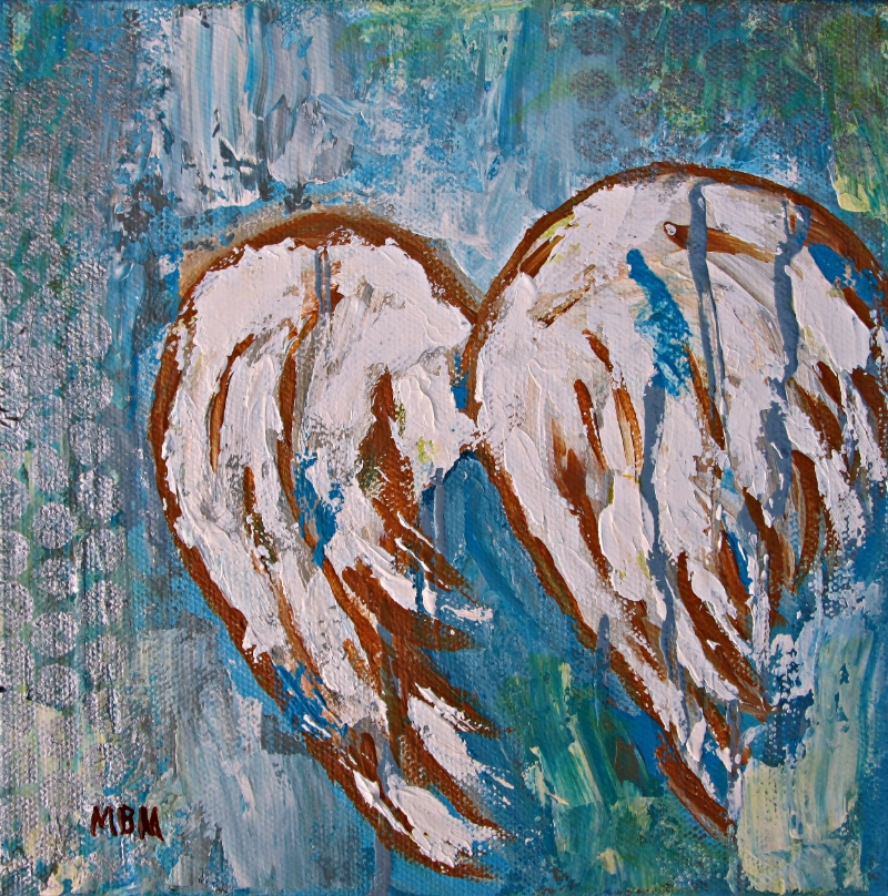 On Angel Wings, acrylic on gallery wrapped canvas