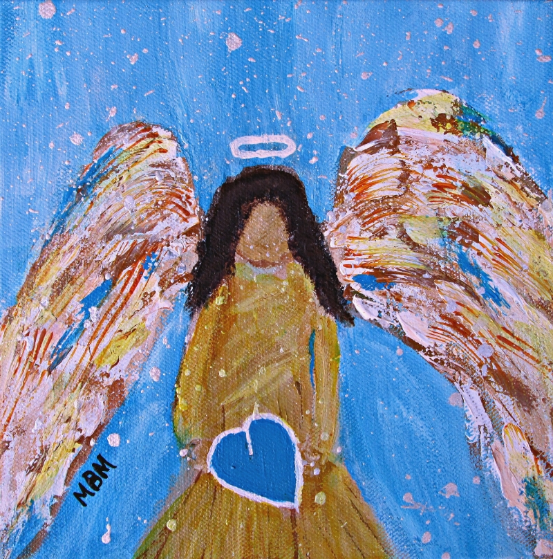 Guardian Angel, acrylic on gallery wrapped canvas