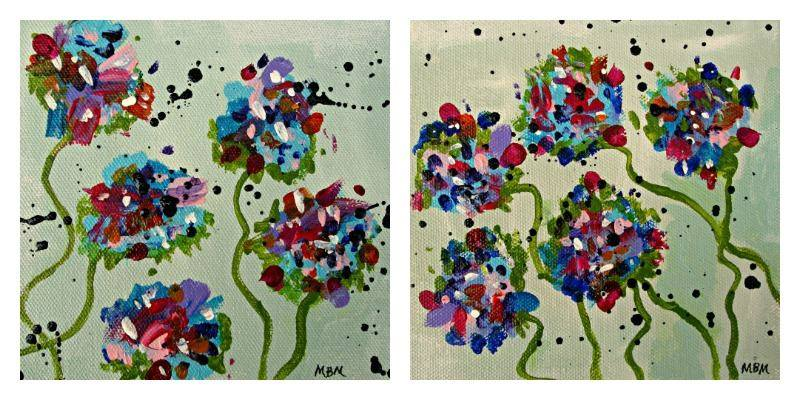 Mary's Garden 1 and 2, acrylic on gallery wrapped canvas