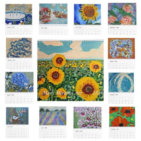 2016 Mary Mirabal Art Calendar
