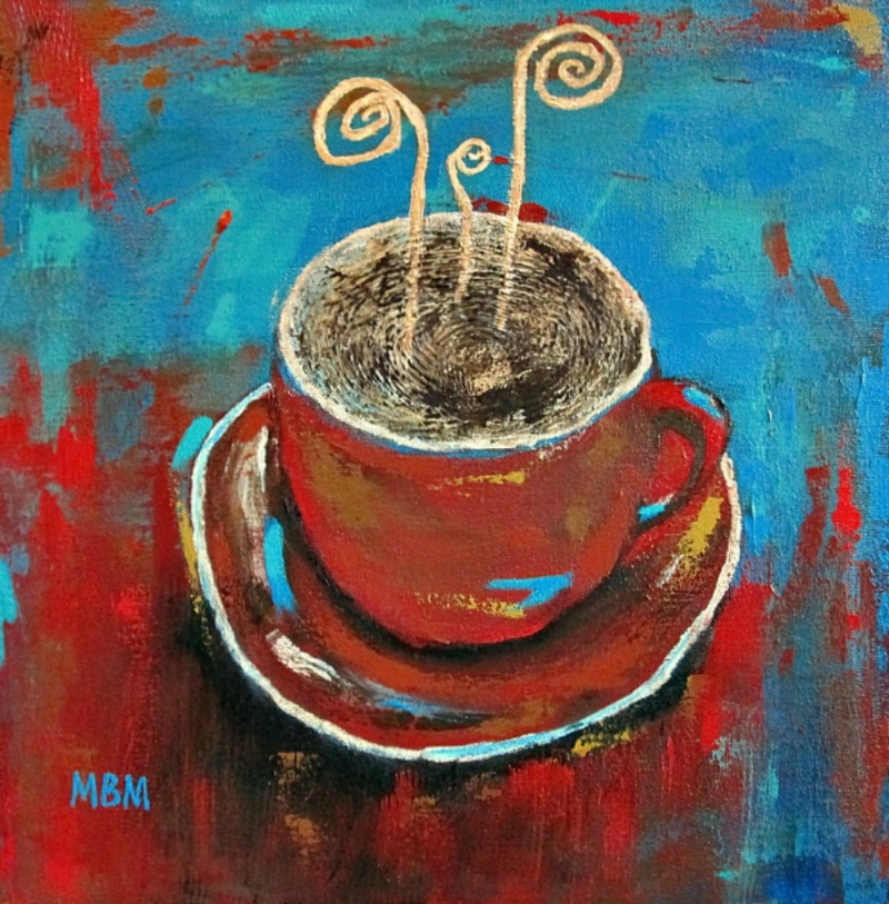 "Day 1, ""Latte"" on canvas"