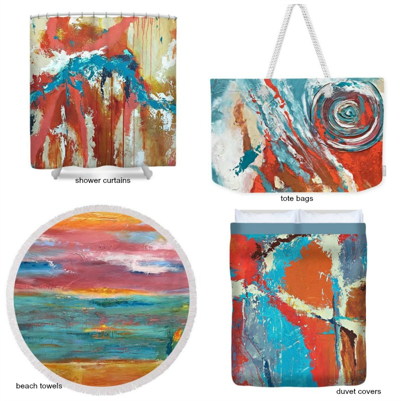 Fun home decor  and accessories - tote bags, shower curtains, duvet covers, towels and MORE available through Fine Art America.  Several sizes and dozens of designs available.