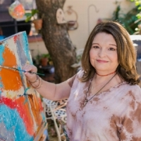 Artsy Shark Featured Artist | 12/28/17 - Featured artist Mary Mirabal captures the bold and colorful landscape of New Mexico in her abstract work.