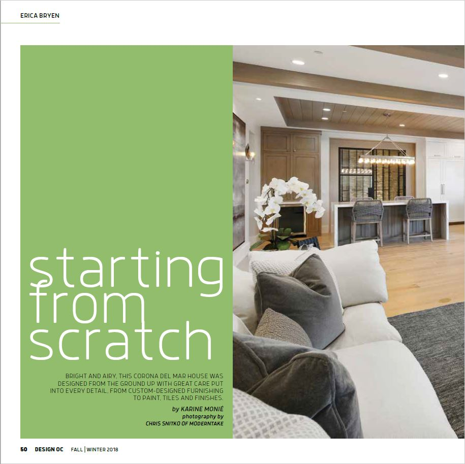Orange Coast Magazine - Design OC, Fall/Winter 2018