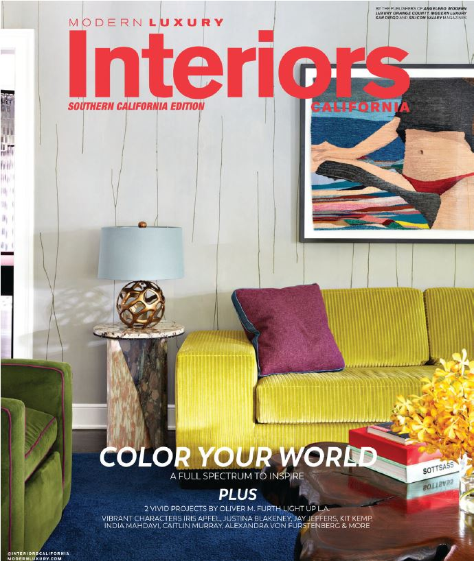 Modern Luxury Interiors California - So Cal Edition - The Color Issue So. Cal August 2018