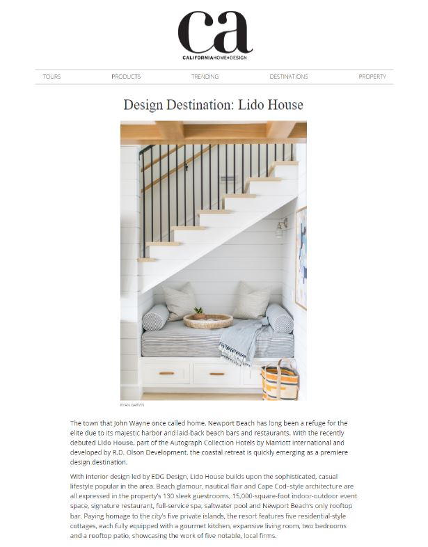 CA Home & Design Online - Design Destination: Lido House, October 2018
