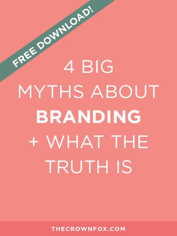 The Crown Fox | www.TheCrownFox.com | Branding & Strategy | Branding Myths
