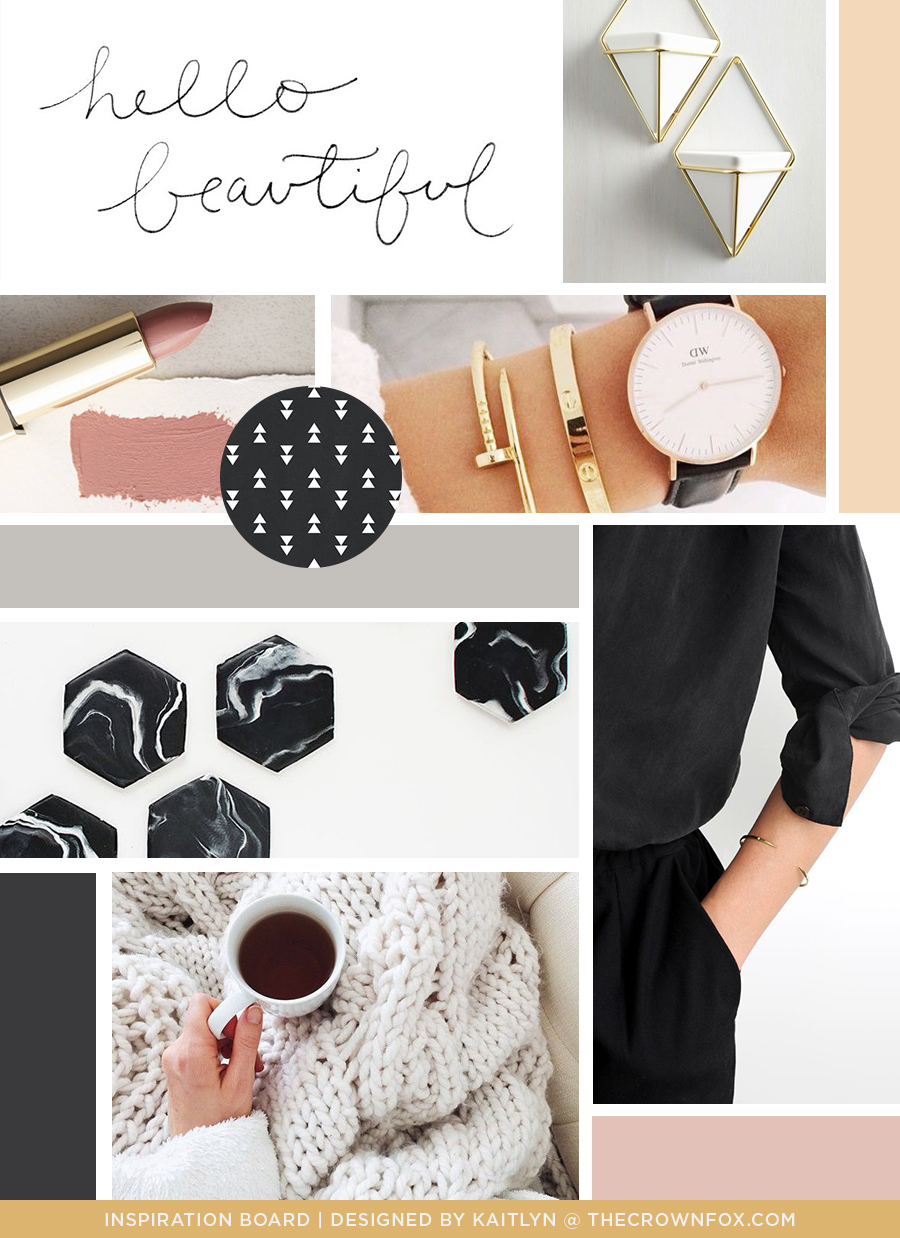 TheCrownFox | www.TheCrownFox.com | Client Inspiration Board | Branding + Design