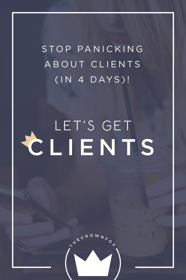 Getting clients for your freelance business doesn't have to be so hard. Join me in this four day series - Let's Get Clients!