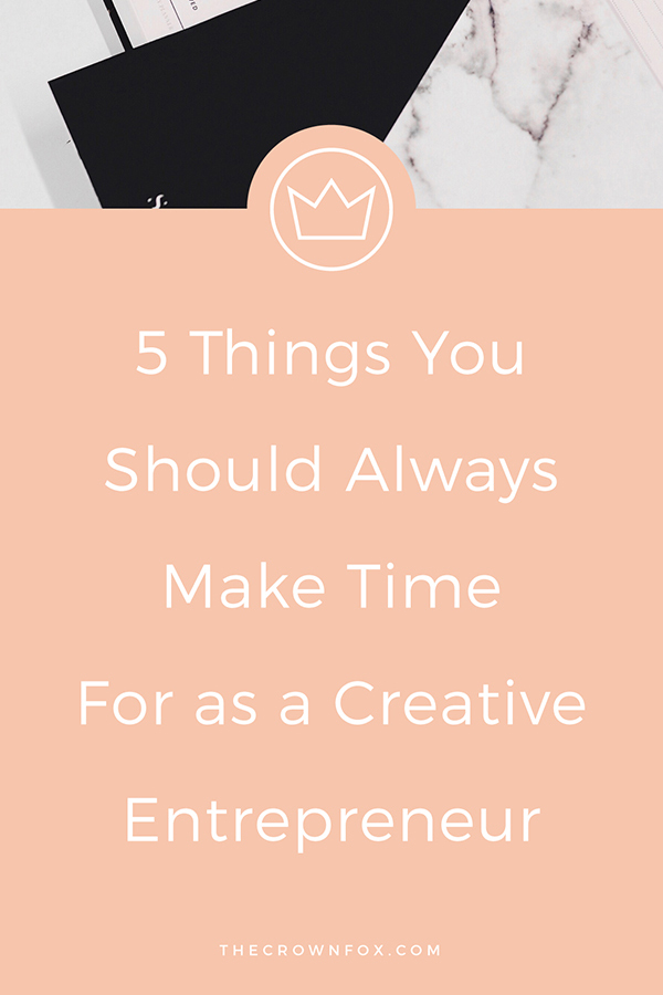 as creative entrepreneurs, we are BUSY. Working online for the past 2.5 years has taught me many things, but the best lesson I've learned is to take prioritize taking care of yourself. Click through to red 5 non negotiables when it comes to your schedule and routine. | Graphic Design Assistant for Creative Entrepreneurs | www.TheCrownFox.com #creativeentrepreneur #schedule