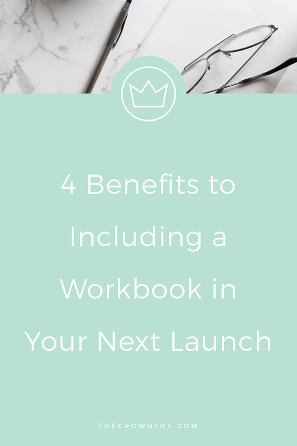 creative entrepreneurs - are courses or group programs on the horizon?! Launching something soon? You NEED to be including a workbook, okay! Read this post + learn why :) | www.TheCrownFox.com | Graphic Design Assistant to Creative Entrepreneurs #launch #workbook