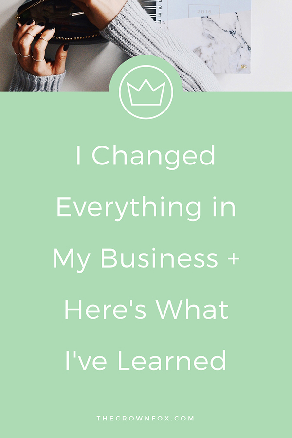 Hey #Girlboss ! Businesses Evolve... I've learned some things over the past year and definitely within the past 3 months that I think you need to learn about your #onlinebusiness and being a #creativeentrepreneur ! Click through to read more | www.TheCrownFox.com | Graphic Design Assistant for Creative Entrepreneurs #business #entrepreneur