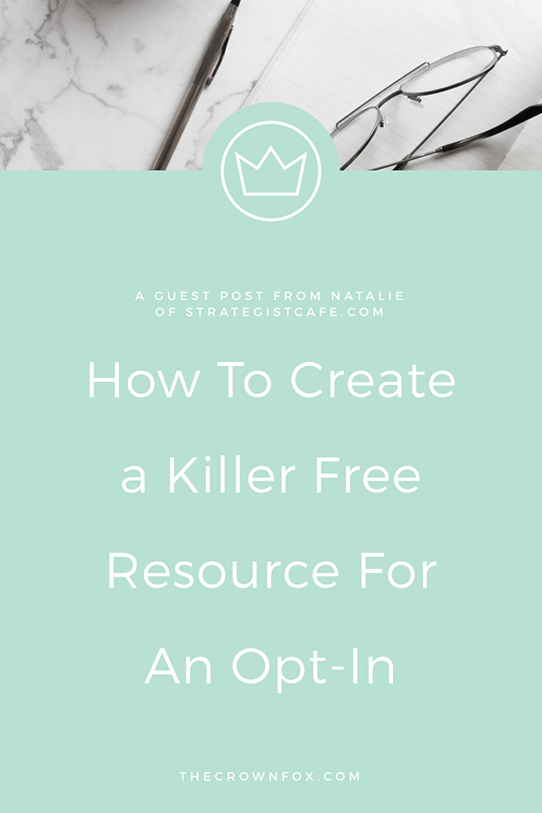 Free Resource for an Opt-In - Biz Tips | TheCrownFox | Graphic Design #businesstips #emailmarketing