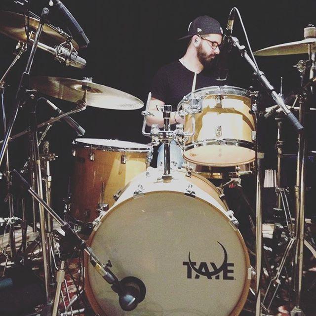 Hittin stuff for @jordanhallermusic this afternoon #drums #studio