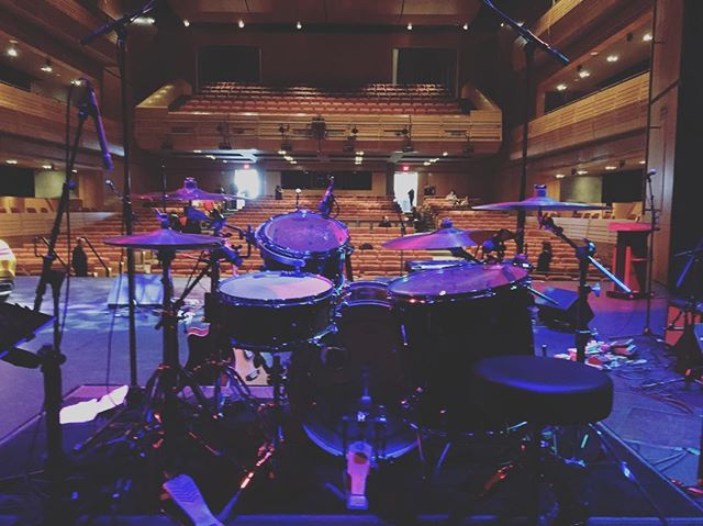 Sound check with @jordanhallermusic @androidmarshall thanks @udrumco for the great kit!