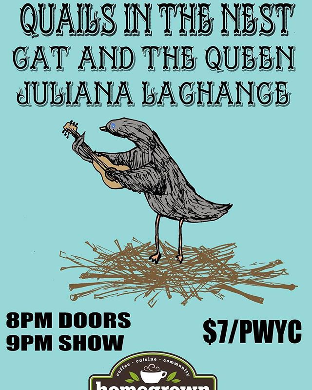 Quails in the Nest this Thursday at @homegrownhamilton