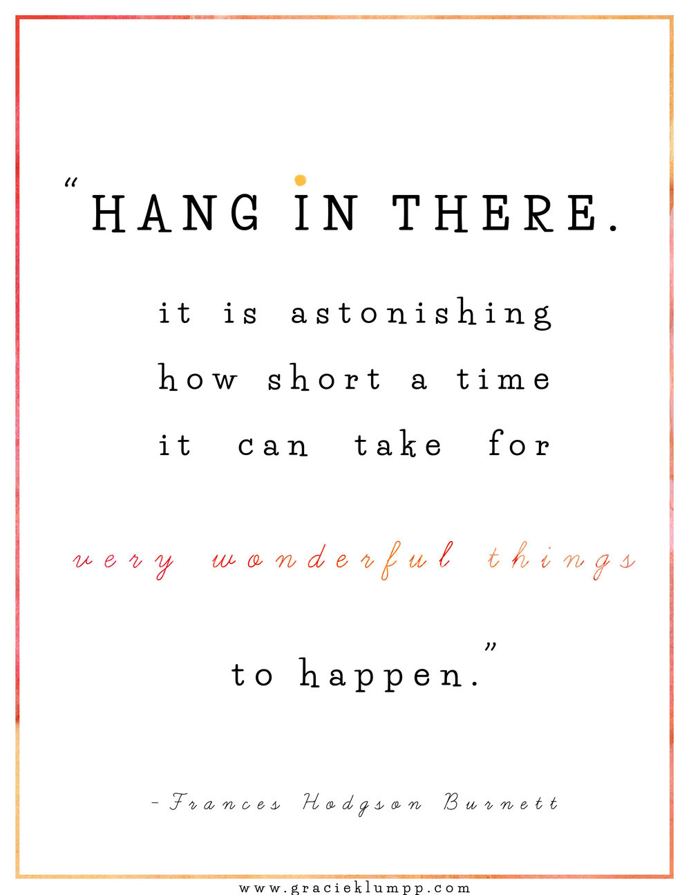 Hang in There Printable Quote