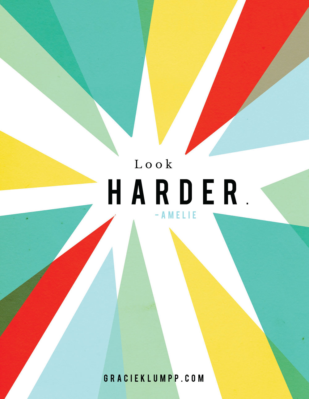 Look Harder Printable Quote