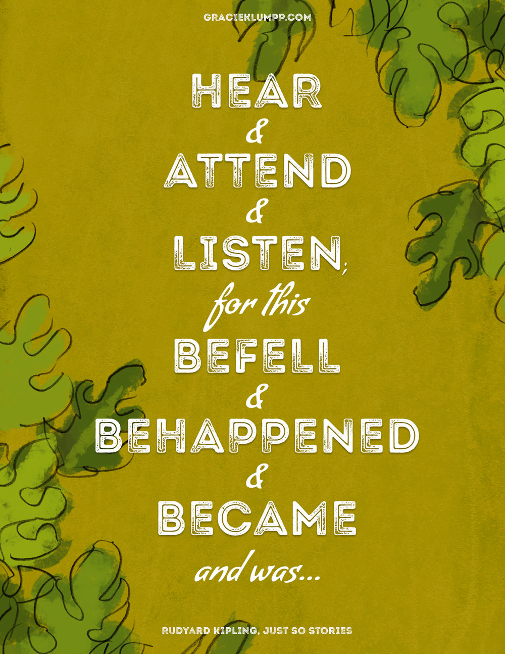 Hear and Attend and Listen Quote