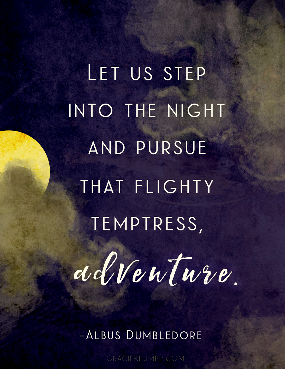 Let Us Step Into the Night Printable Quote