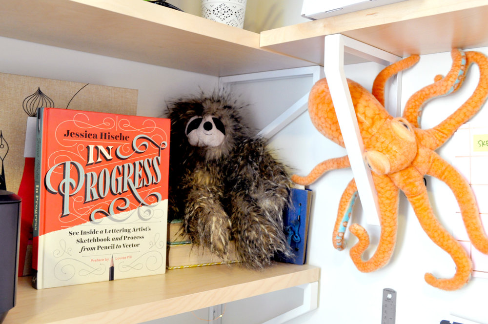 That's Gulliver (the sloth) and Hogarth (the octopus). They make sure everything's running smoothly around here.